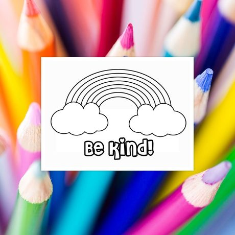 Be Kind Colouring